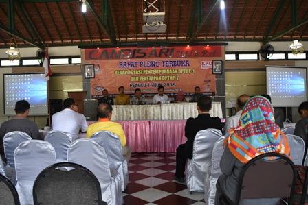 Rapat Pleno Terbuka Rekapitulasi Penyempurnaan DPTHP-1 dan Penetapan DPTHP-2 Pemilu Tahun 2019