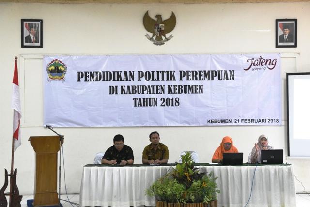 Seminar Pendidikan Politik Bagi Perempuan di Kabupaten Kebumen Tahun 2018