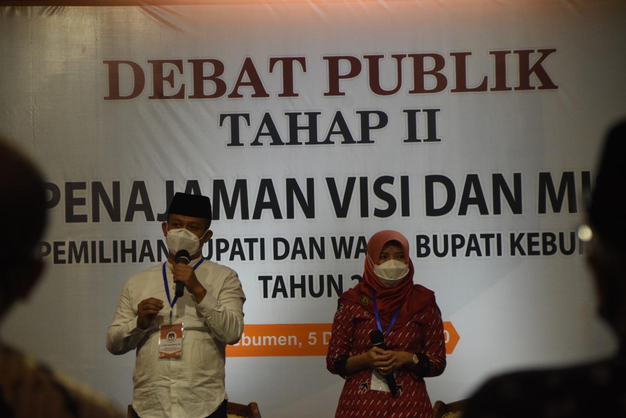 Tajamkan Visi Misi Paslon, KPU Kebumen Gelar Debat Publik